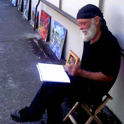 Regional Grants Pass artist Peace at the Artists & Crafters Market